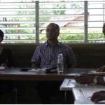 Presidente Saliente, Elpidio Ulloa, escucha una participación en la Asamblea General del 2013 del CREAR